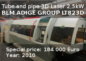 Pipe and Tube 3D Laser BLM ADIGE GROUP LT823DBML